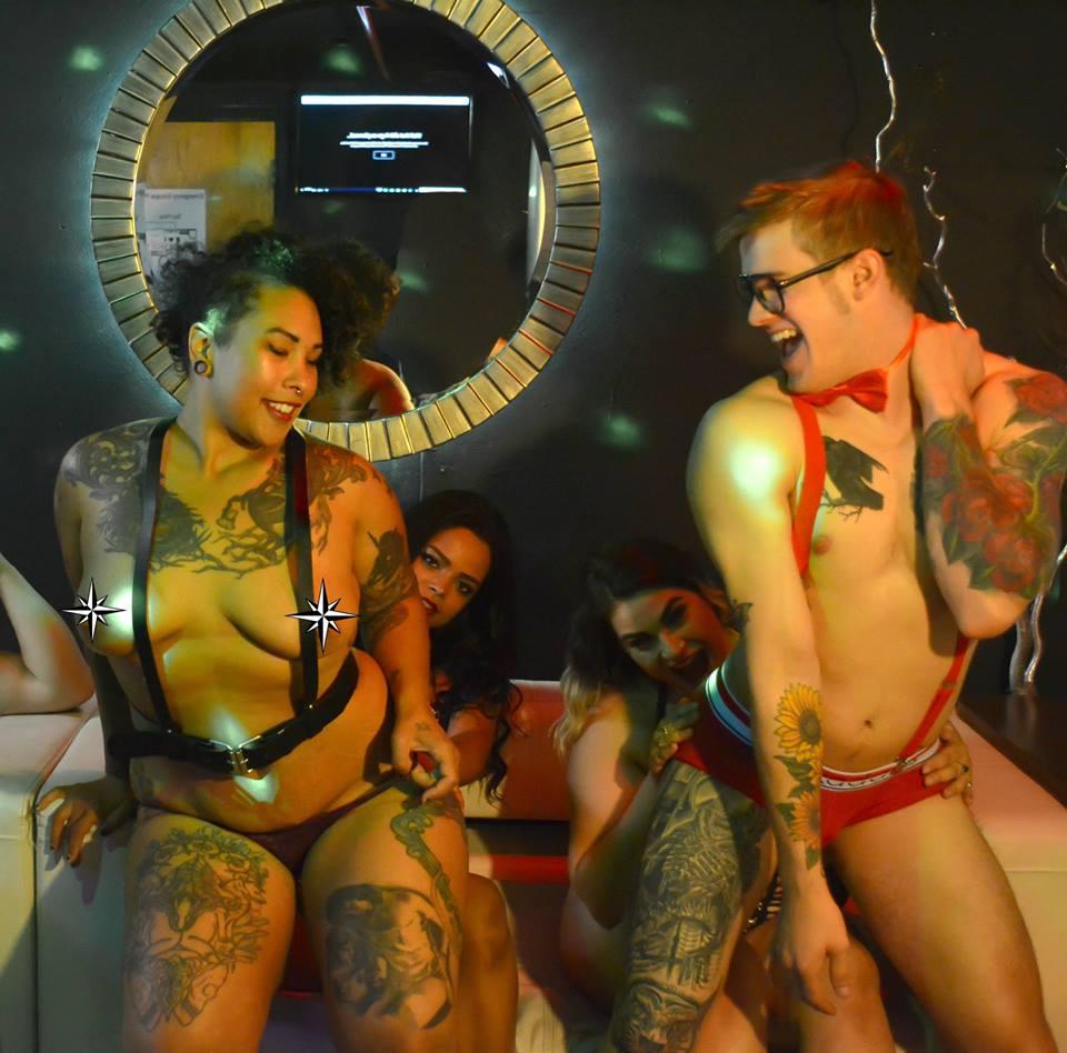 Lap dances at Velvet Strip