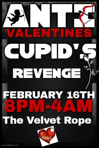 Cupid's Revenge! The Anti-Valentine's Party @ The Velvet Rope