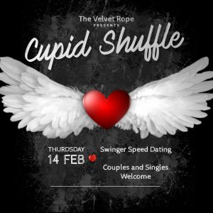 Valentine's Cupid Shuffle...Singles and Couples Mingle @ The Velvet Rope