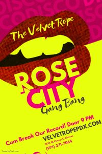 Non-Member Swinger Sunday Presents: RoseCity Gangbang @ The Velvet Rope