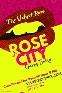 Non-Member Swingers Sunday Present: RoseCity Gangbang @ The Velvet Rope