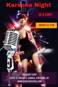 Non-Member Swinger Sunday Presents: Karoake/ Lip Synch Battle @ The Velvet Rope