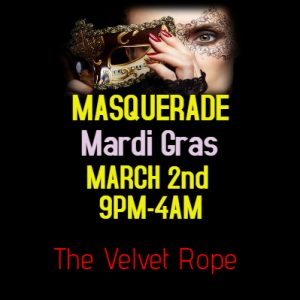 Mardi Gras Masquerade Quiver Night @ The Velvet Rope