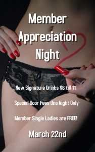 TVR's Member Appreciation Night @ The Velvet Rope
