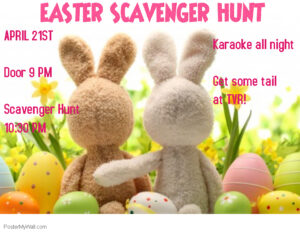 Non-Member Swinger Sunday: Easter Scavenger Hunt & Karaoke @ The Velvet Rope