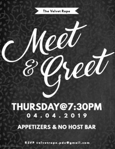 FREE Meet & Greet @ The Velvet Rope