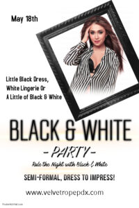 Black & White Party @ The Velvet Rope