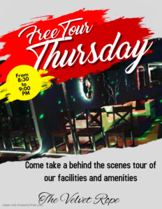 Free Tour Thursdays @ The Velvet Rope