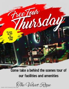 Free Tour Thursdays @ The Velvet Rope