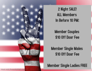 In Before 10 PM Member Discount @ The Velvet Rope
