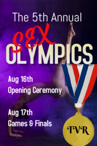 5th Annual Sex Olympics Finals & After Party