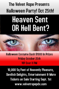Heaven Sent OR Hell Bent: Halloween Costume Bash @ The Velvet Rope