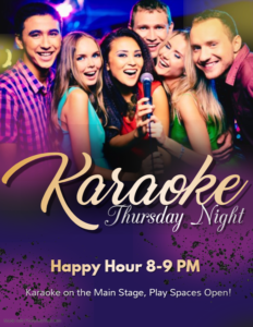Karaoke Thursday With Happy Hour at 8 PM