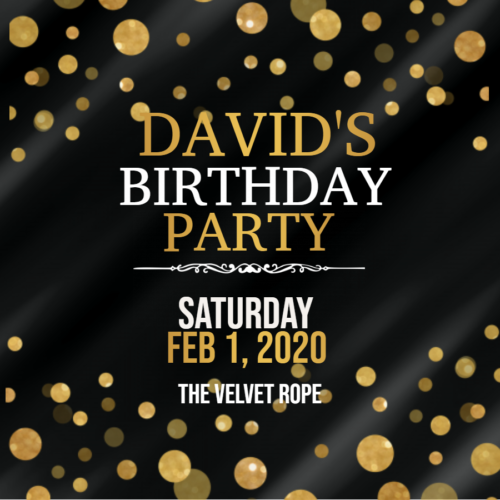 Owner David Is Celebrating A Birthday!