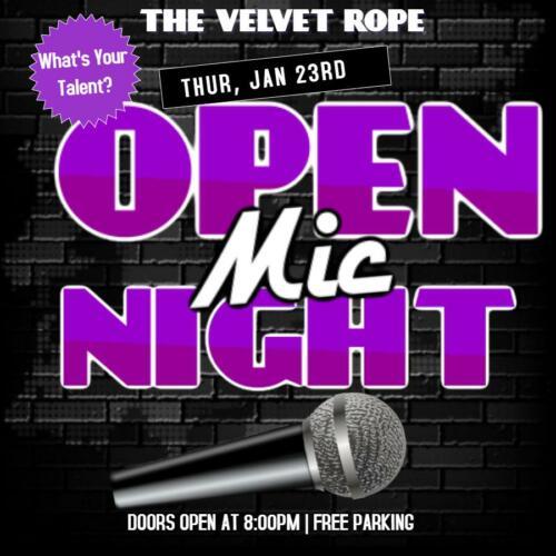 Open Mic Night, Thur, Jan 23rd