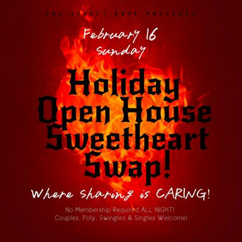Holiday Open House Sweatheart Swap, Sunday, Feb 16th